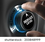 button service level pointing... | Shutterstock . vector #203848999