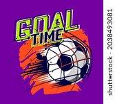goal time t shirt design. sport ...   Shutterstock .eps vector #2038493081