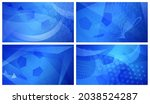 set of four football or soccer... | Shutterstock . vector #2038524287