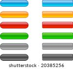 web shiny buttons. vector... | Shutterstock .eps vector #20385256