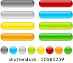web shiny buttons. vector... | Shutterstock .eps vector #20385259