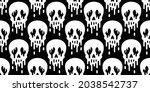 skull seamless pattern... | Shutterstock .eps vector #2038542737
