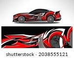 wrap car vector design decal.... | Shutterstock .eps vector #2038555121