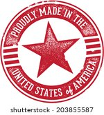 proudly made in the united... | Shutterstock .eps vector #203855587