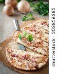 tarte flambee | Shutterstock . vector #203856385