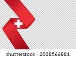 waving flag of  switzerland ... | Shutterstock .eps vector #2038566881