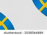 waving flag of sweden isolated  ... | Shutterstock .eps vector #2038566884