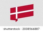 waving flag of denmark isolated ... | Shutterstock .eps vector #2038566887