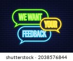 we want your feedback text on...   Shutterstock .eps vector #2038576844