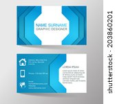 modern business card template... | Shutterstock .eps vector #203860201