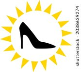 exclusive ladies shoes icon... | Shutterstock .eps vector #2038639274