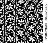 vector decorative flower... | Shutterstock .eps vector #2038647377