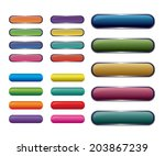 vector   set of colored web... | Shutterstock .eps vector #203867239