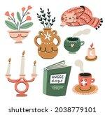 vector cosy home stickers...   Shutterstock .eps vector #2038779101