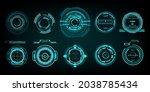 set modern electronic target...   Shutterstock .eps vector #2038785434