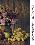 still life fruits were placed... | Shutterstock . vector #203878921