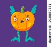 cute halloween pumpkin vector... | Shutterstock .eps vector #2038857881