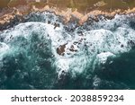 Pacific Ocean Waves Crash...