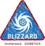 blizzard warning sign  heavy...   Shutterstock .eps vector #203887414