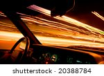 car light trails from front... | Shutterstock . vector #20388784