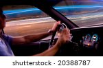 car light trails from front... | Shutterstock . vector #20388787