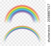 realistic colorful rainbow.... | Shutterstock .eps vector #2038887317