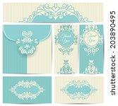 set of wedding cards. wedding...