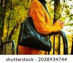 Unrecognizable Woman Wearing...