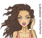beautiful woman | Shutterstock .eps vector #203894875