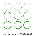 vector set of green circle... | Shutterstock .eps vector #2038969487