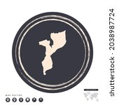 black grunge stamp circle... | Shutterstock .eps vector #2038987724