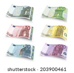 Collection Of Euro Banknotes....