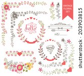festive design template set  in ... | Shutterstock .eps vector #203903815