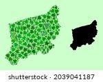 vector map of west pomerania...   Shutterstock .eps vector #2039041187