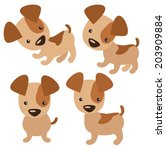 dog vector illustration | Shutterstock .eps vector #203909884