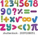 mathematical symbols. child...