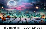 Halloween Landscape   Table And ...