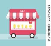 idea store concept | Shutterstock .eps vector #203914291