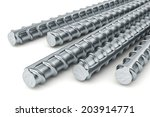 reinforcement bars isolated on... | Shutterstock . vector #203914771