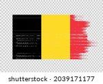 belgium  flag with brush paint... | Shutterstock .eps vector #2039171177