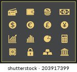 financal icons set. vector... | Shutterstock .eps vector #203917399