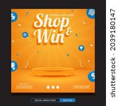shop and win  invitation... | Shutterstock .eps vector #2039180147