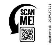 scan me icon. symbol or emblem. ...   Shutterstock .eps vector #2039197121