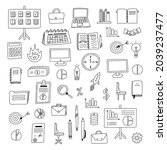 big business set with hand... | Shutterstock .eps vector #2039237477