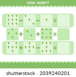 how many cartoon leek. counting ... | Shutterstock .eps vector #2039240201