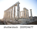 Poseidon Temple At Sounio ...