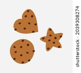 homemade chocolate chip cookie. ...   Shutterstock .eps vector #2039308274