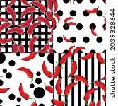red pepper on geometry...   Shutterstock .eps vector #2039328644