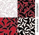 red pepper on geometry...   Shutterstock .eps vector #2039328647