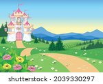 fairy tale background with... | Shutterstock .eps vector #2039330297